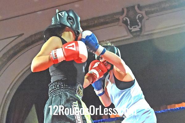 Bout 7 Mariana Rosado(Red Gloves), MJ Zone Rec, Cleveland -vs-   Sarah Judy(Blue Gloves), Old Angle BC, Twinsburg, 141 lbs, Novice