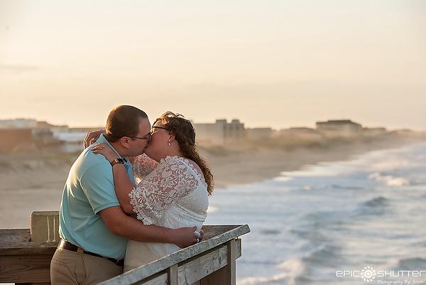 Emily and Nicholas, Engagement Portaits, Outer Banks, North Carolina