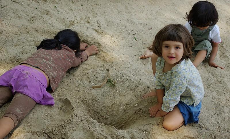 Burying Sabrielle.