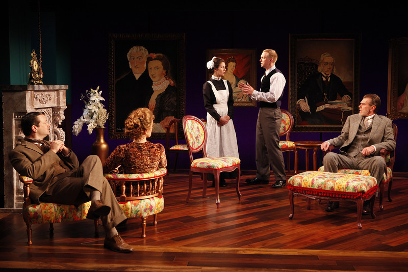 Rod Brogan, Kristin Griffith, Janie Brookshire, Roderick Hill and Graeme Malcolm in MARY BROOME by Allan Monkhouse  Photo: Carol Rosegg Photography