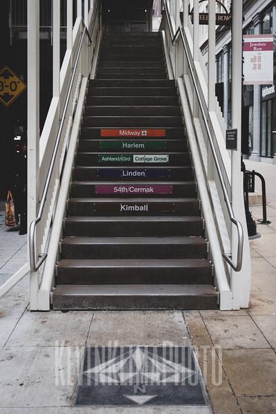 CTA Stairs on Wabash