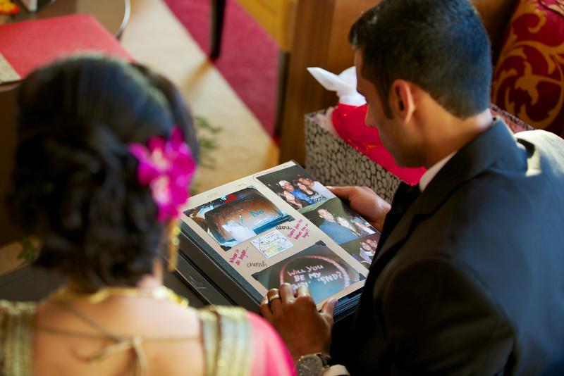 Le Cape Weddings - Indian Wedding - Day 4 - Megan and Karthik Exchanging Gifts 9.jpg