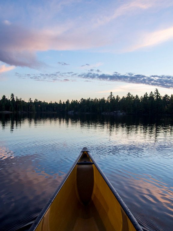 . Dusk on South Hegman Lake in the Boundary Waters Canoe Area Wilderness  Sept. 25, 2013. (Pioneer Press: Andy Rathbun)