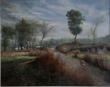"""""""Summer is gone"""" (oil on linen) by Yongqing Cui"""
