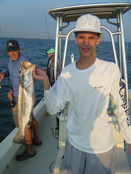 Justin Farris with 26 inch, 6 lb speckled trout