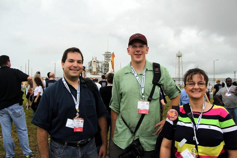 Virginia Tech Hokies @CraigFifer @VTjawo @RennaW with Space Shuttle Atlantis on Launch Pad 39-A