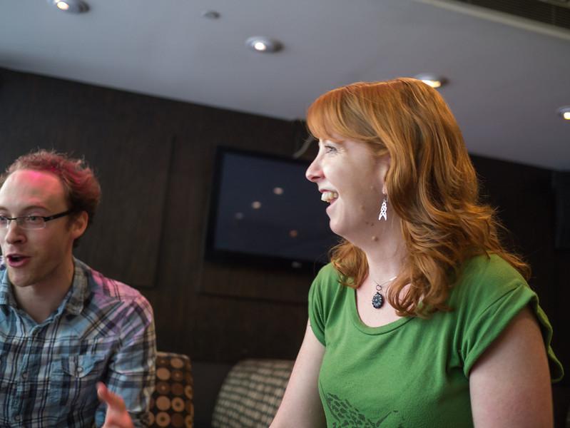 Dan and Kris at the cocktail bar