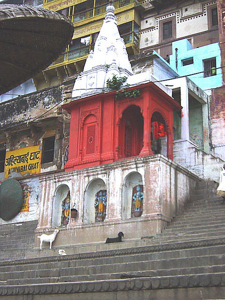 along the ghat in Varanasi, India