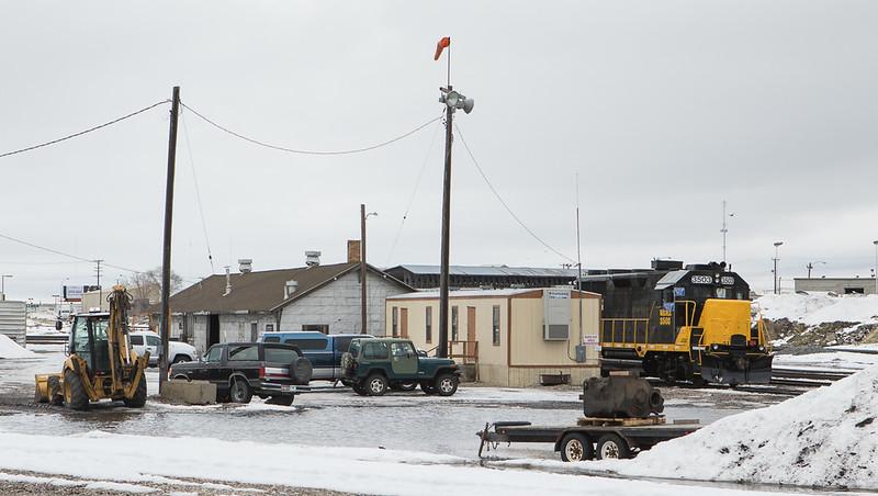 WAMX 3503 (Eastern Idaho RR) in the yard at Idaho Falls.