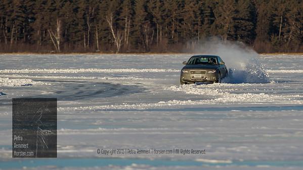 Audi Club Glacier Lakes: Ice Driving Event Lake Superior 2015