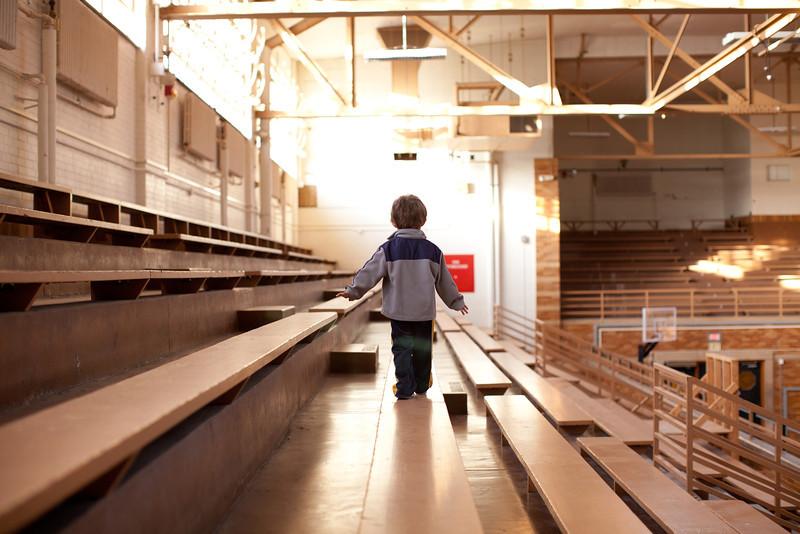 Hunter Grabiec in the McAfee Gymnasium in Charleston, Illinois on December 9, 2011. (Jay Grabiec)