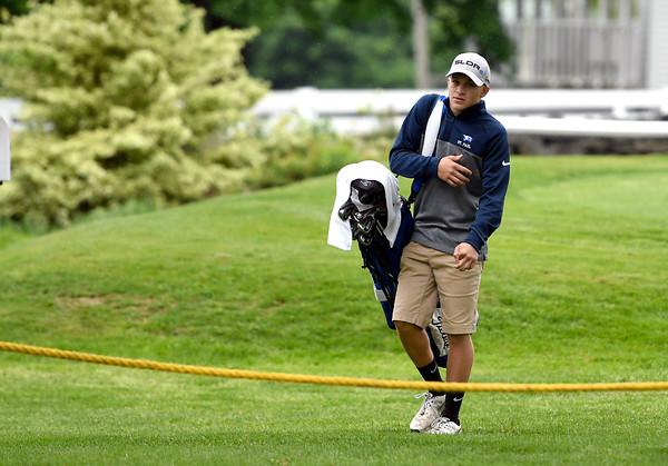 5/22/2018 Mike Orazzi | Staff St. Paul's Sam Mazzarelli during Tuesday's golf match at Chippanee Golf Club in Bristol.