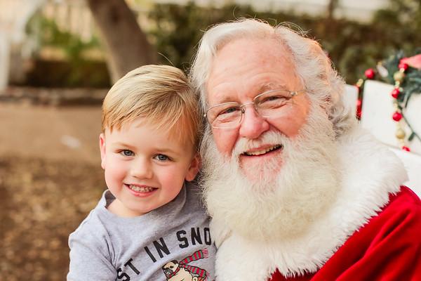 Liam and Jack - Santa - 2018