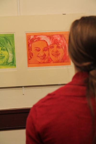 Senior art show of Katie Grace Kibler and Jack Harold Zimmerman.