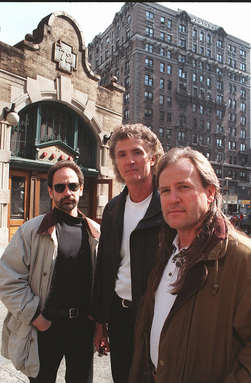 . The rock group Grand Funk Railroad pose outside the West 72nd Street subway station in New York, April 11, 1997. Grand Funk Railroad will be at Quicken Loans Arena on April 1 for the 2017 Moondog Coronation Ball. For more information, visit theqarena.com/events/detail/moondog-170401. (Associated Press file)