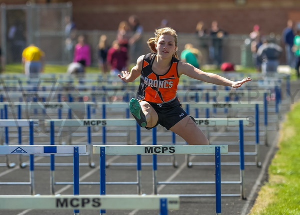 2016 Missoula Invite - 100m hurdles - girls