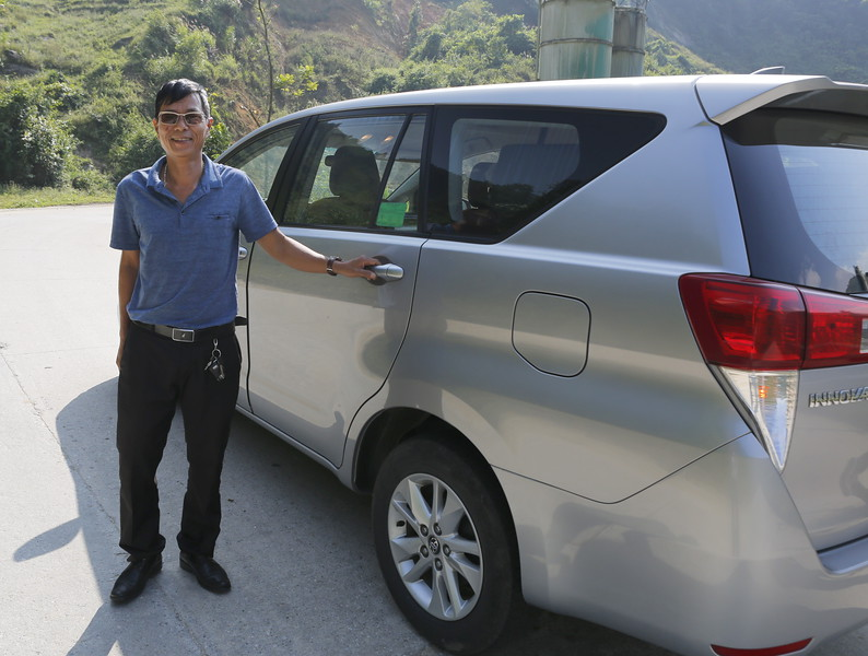 Our personal driver Mr. Tran