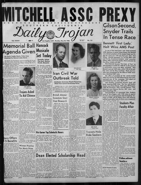 Daily Trojan, Vol. 37, No. 131, May 20, 1946