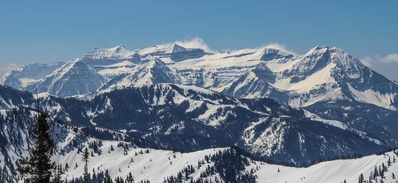 Mount Timpanogos (Elevation: 11749  feet)  Wasatch Range, Utah