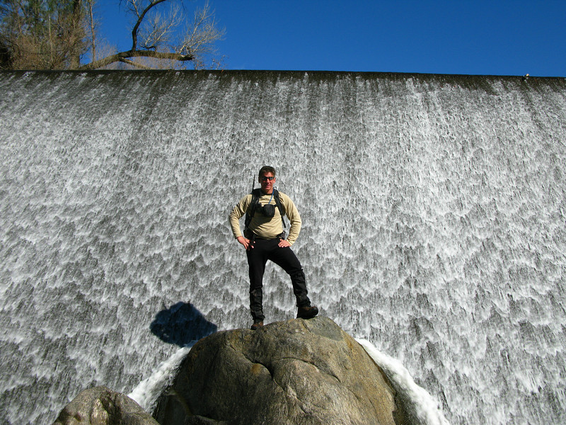 Tom below the dam
