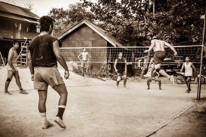 Nice typical life scene of young dudes enjoying their local sport.