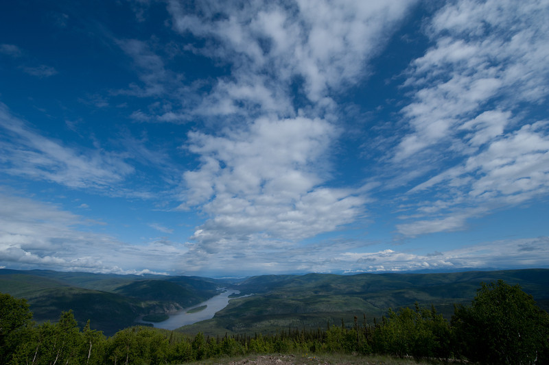 View of Dawson City from Dome Mountain, Dawson City, Yukon