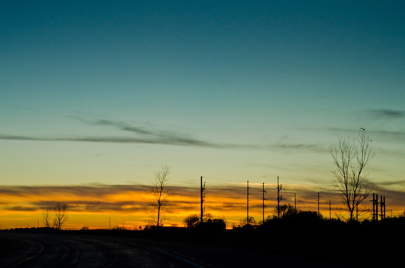 Day 276: Before They Merge Driving down the Interstate where the I-229 merges to I-29 during my favorite time of the day: sunset.