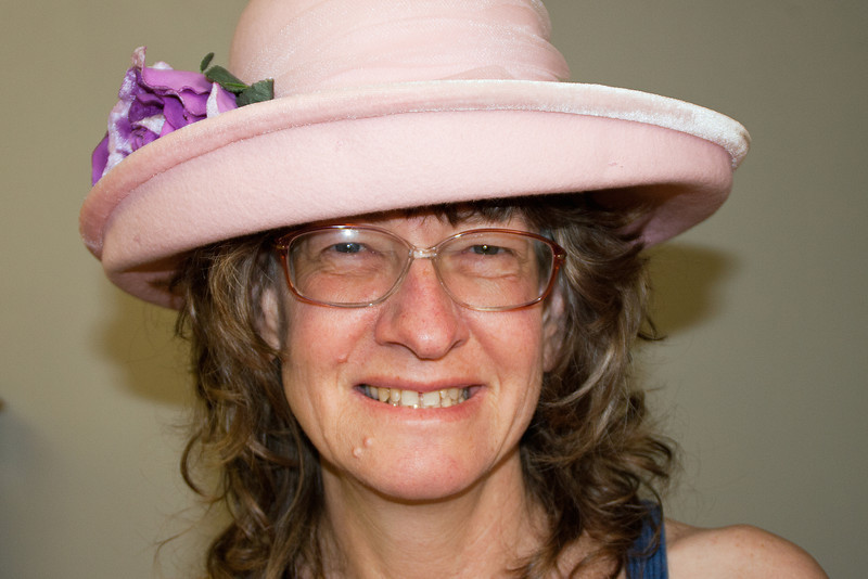 June 30: Self-portrait with hat.