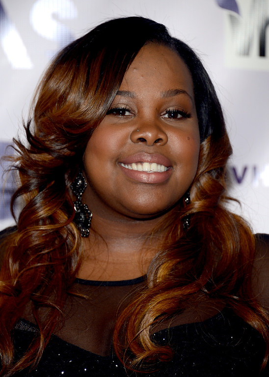 ". LOS ANGELES, CA - DECEMBER 16:  Actress Amber Riley attends ""VH1 Divas\"" 2012 at The Shrine Auditorium on December 16, 2012 in Los Angeles, California.  (Photo by Michael Buckner/Getty Images)"