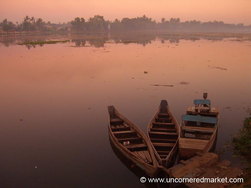 Boats on the Lake - Toungoo, Burma