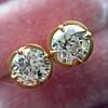 2.23ctw Old European Cut Diamond Stud Earrings 13