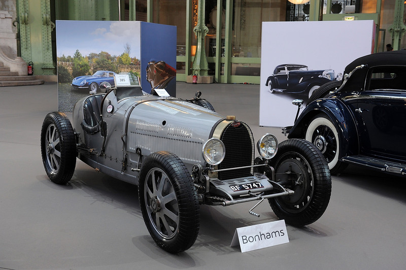 . A 1929 Bugatti Type 35B Grand Prix is displayed  ahead of a sale of vintage cars by Bonhams auction house, at Le Grand Palais on February 5, 2014 in Paris, France.  (Photo by Antoine Antoniol/Getty Images)