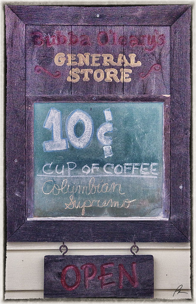 It really was ten cents for a cup of coffee at Bubba O'Leary's