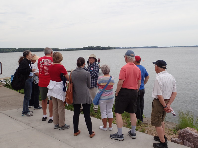 Start of Shoreline History Walk with John Magnuson