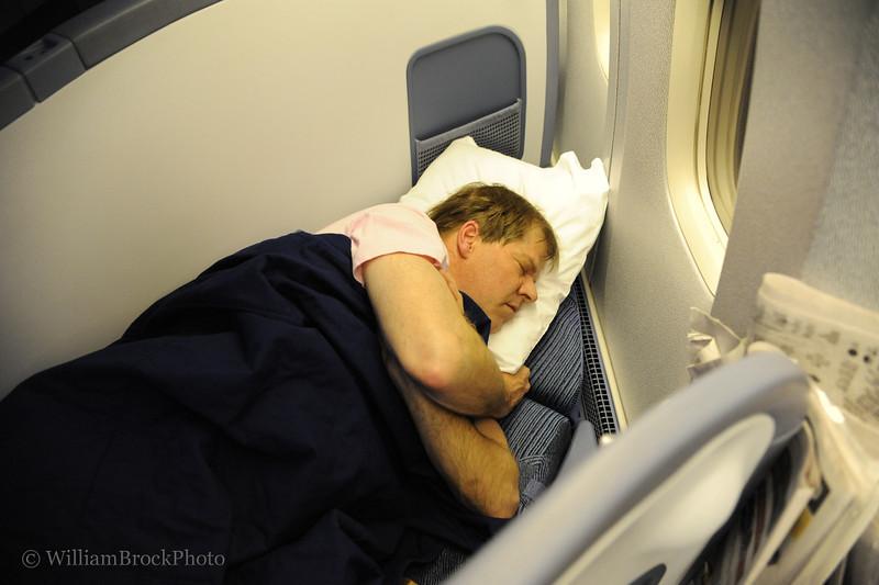 Wes enjoying the flight over!