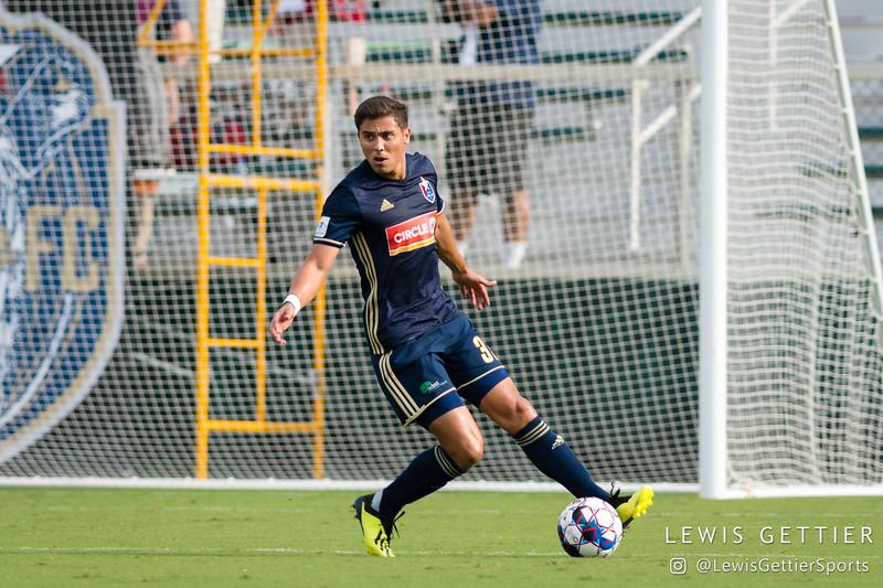 North Carolina FC defender Aaron Guillen (33)