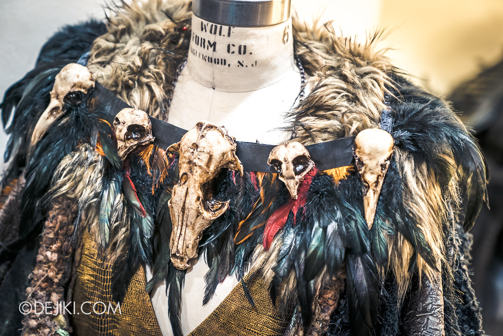 Halloween Horror Nights 7 Behind the Scenes: The Making of the Midnight Man, Iconic Character for HEX haunted house - Midnight Man Fur Top and Necklace