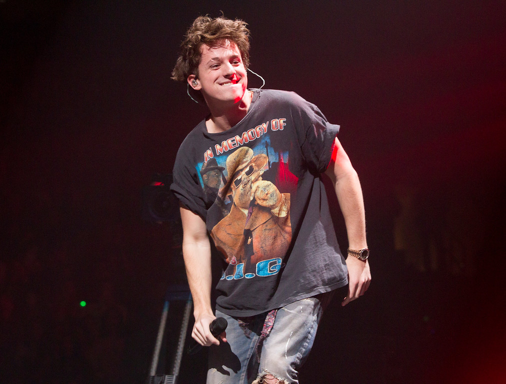 . Charlie Puth performs in concert during Q102\'s iHeartRadio Jingle Ball 2017 at the Wells Fargo Center on Wednesday, Dec. 6, 2017, in Philadelphia. (Photo by Owen Sweeney/Invision/AP)