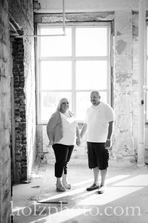 Ashley and Mike B/W Engagement Photos