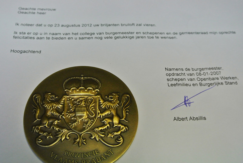 Van de stad Vilvoorde + een premie van 125 euro...