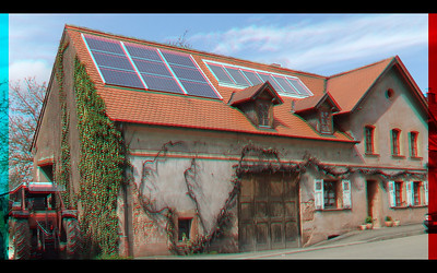 Haupstuhl in Stereo Anagyph Photographs