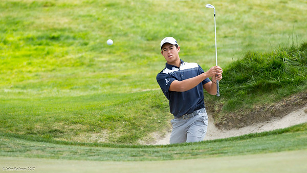 Denzel Ieremia from New Zealand on Practice Day 1 of the Asia-Pacific Amateur Championship tournament 2017 held at Royal Wellington Golf Club, in Heretaunga, Upper Hutt, New Zealand from 26 - 29 October 2017. Copyright John Mathews 2017.   www.megasportmedia.co.nz