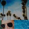 """Hollywood Palms-Haxton 40""""x40"""" oil on canvas JPG"""