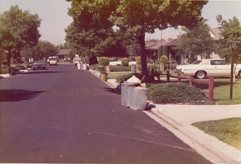 Street Block in the City of Downey during collection day