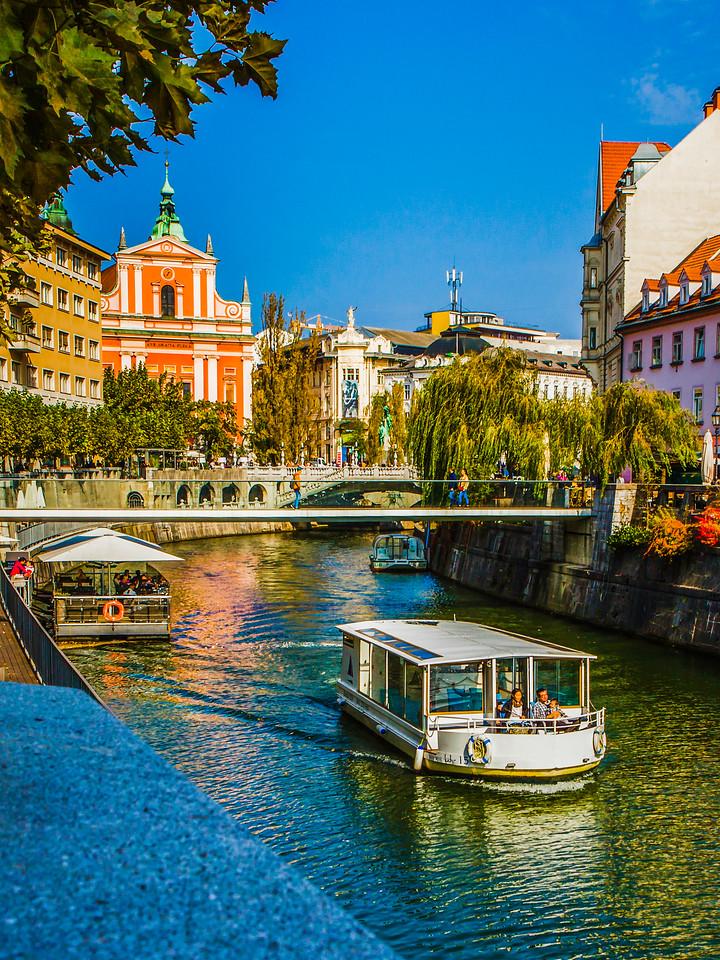 斯洛文尼亚首都卢布尔雅那(Ljubljana),城市风景