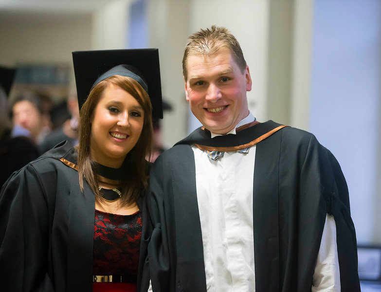 Waterford Institute Of Technology Conferring. Pictured at WIT Waterford Institute Of Technology Conferring are Diane Wall, New Ross and Adam Tszampel, Waterford who graduated Bachelor of Business Honours. Picture: Patrick Browne