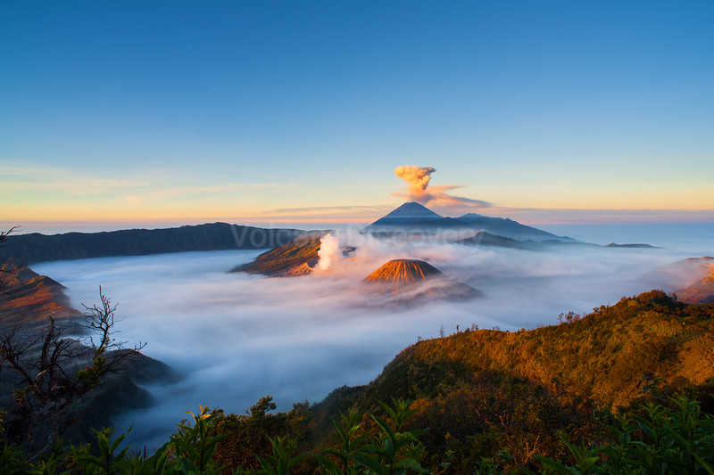 Golden light over the Tengger caldera