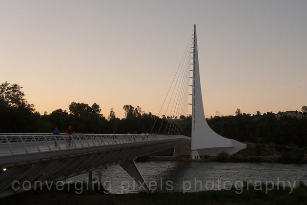 Sun Dial Bridge, Redding, Ca.  7701