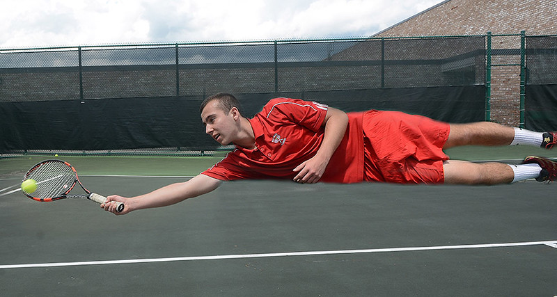 [Jack Haley/Messenger Post Media] Max Delehanty of Palmyra-Macedon is the Daily Messenger''s Player of the Year in Tennis.