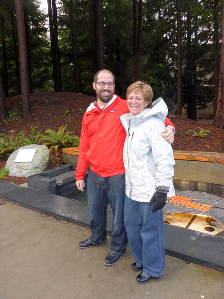 Matt and Mom outside the UBC Museum of Anthropology.